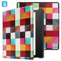 "Printed Tri Fold PU Leather Case for AMAZON Kindle Oasis 2017(7"")"